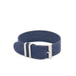 Bracelet perlon KronoKeeper - Bleu/Gris