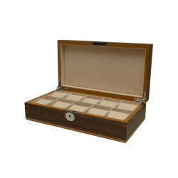 Boîte à montres Clipperton 10 en bois marron