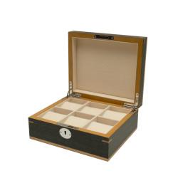 Boîte à montres Clipperton 6 en bois gris