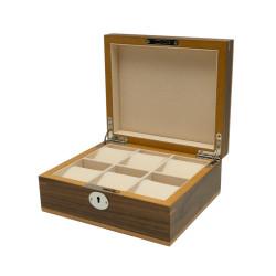 Boîte à montres Clipperton 6 en bois marron