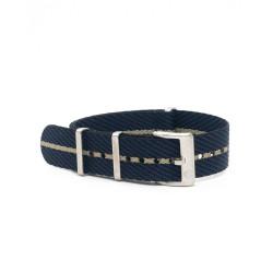 Premium NATO strap - Black/Navy/Khaki