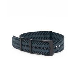 Premium nato strap PVD buckle - Black/Grey