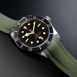 RubberB bracelet T800 pour Tudor Noir