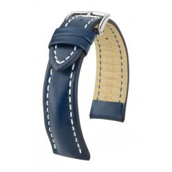 Bracelet pour montre Heavy Calf Hirsch Bleu