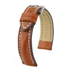 Bracelet pour montre Heavy Calf Hirsch Brun