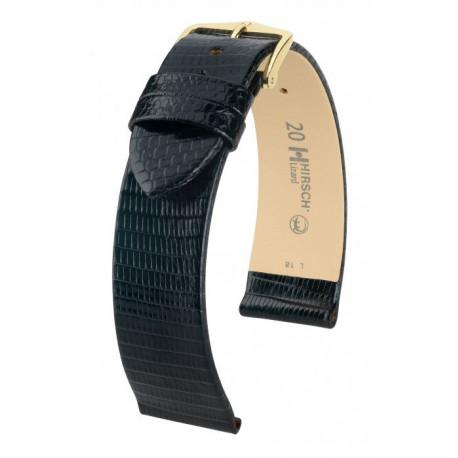 Bracelet pour montre Lizard Hirsch Noir