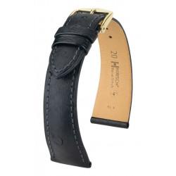 Bracelet pour montre Massai Ostrich Hirsch Noir