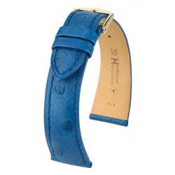 Bracelet pour montre Massai Ostrich Hirsch Bleu