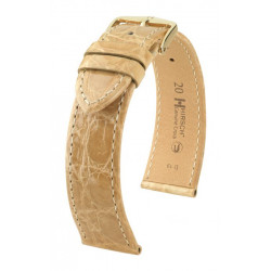 Genuine Croco Hirsch Watch Strap Beige