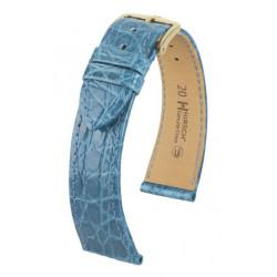 Genuine Croco Hirsch Watch Strap Blue