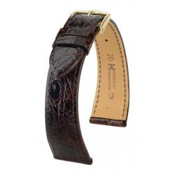 Genuine Croco Hirsch Watch Strap Brown