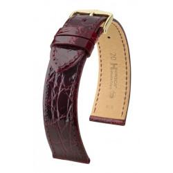 Genuine Croco Hirsch Watch Strap Burgundy