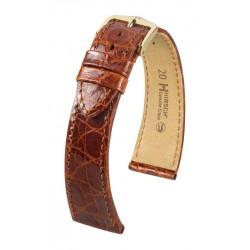 Genuine Croco Hirsch Watch Strap Golden Brown