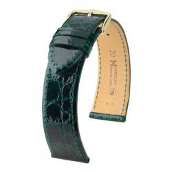 Genuine Croco Hirsch Watch Strap Green