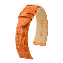 Genuine Croco Hirsch Watch Strap Orange