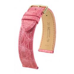 Genuine Croco Hirsch Watch Strap Pink