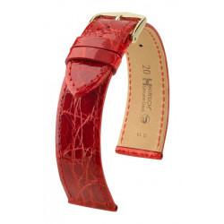 Genuine Croco Hirsch Watch Strap Red