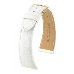 Genuine Croco Hirsch Watch Strap White