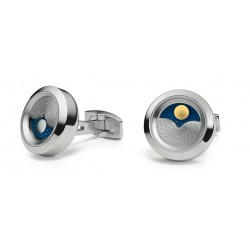 """Cufflinks TFest 1968 """"Planet"""" shiny stainless steel"""