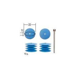 PROXXON Polissoirs élastiques en silicon lentille (10 pièces)