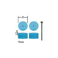 PROXXON Polissoirs élastiques en silicone disque (10 pièces)