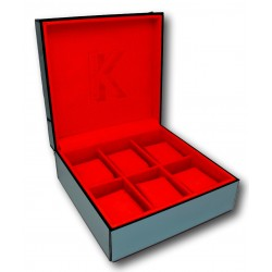 Watch Box with glass Kronokeeper for 6 watches