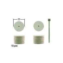PROXXON disques à polir en feutre par 10 pièces