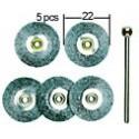 PROXXON Brosses en acier de forme disques 22mm par 5 pièces