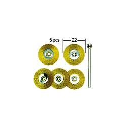 PROXXON Brosses en laiton de forme disques 22mm par 5 pièces