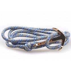 Bracelet ancre marine dorée