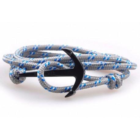 Bracelet ancre marine PVD noir