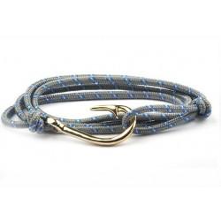 Bracelet hameçon doré Vikings