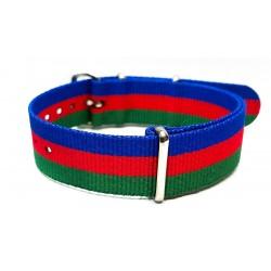 Bracelet NATO nylon motif ancre marine