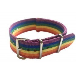 Rainbow NATO watch strap