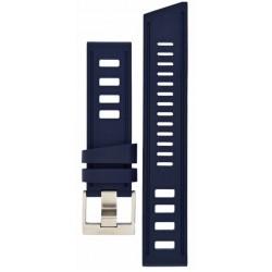 Bracelet Isofrane en caoutchouc bleu