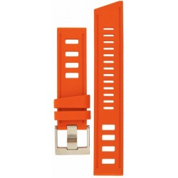 Bracelet Isofrane en caoutchouc orange