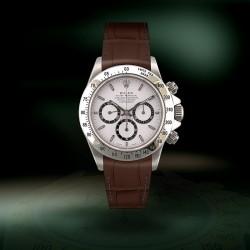 R-Strap Bracelet Aligator pour Rolex - Marron brillant