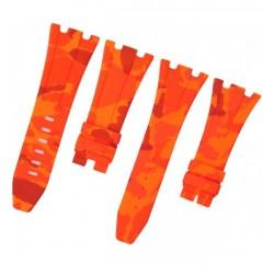 Horus Bracelet Camouflage Rubber pour Audemars Piguet 42mm orange