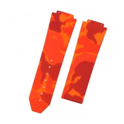 Bracelet Caoutchouc Camouflage Horus pour Hublot Big Bang 44mm