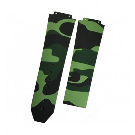Bracelet Caoutchouc Camouflage Horus pour Hublot Big Bang 44mm green camo