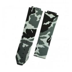 Bracelet Caoutchouc Camouflage Horus pour Hublot Big Bang 44mm graphite