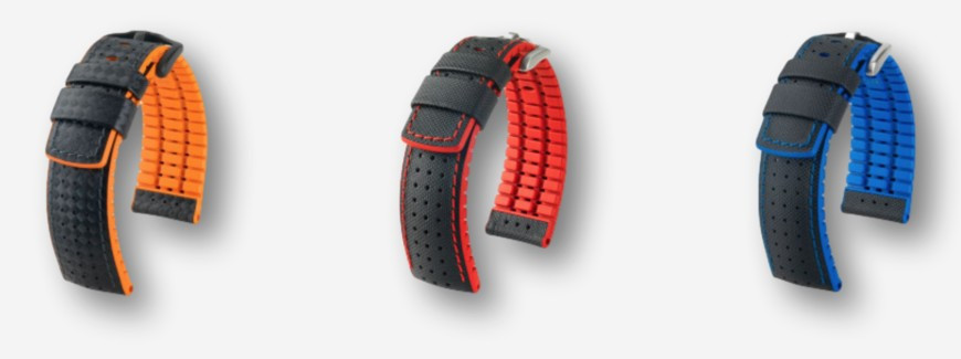 Rubber combinations watch straps